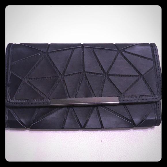 c6100e07d4b Emilio Pepe Bags | Black Geometric Wallet | Poshmark
